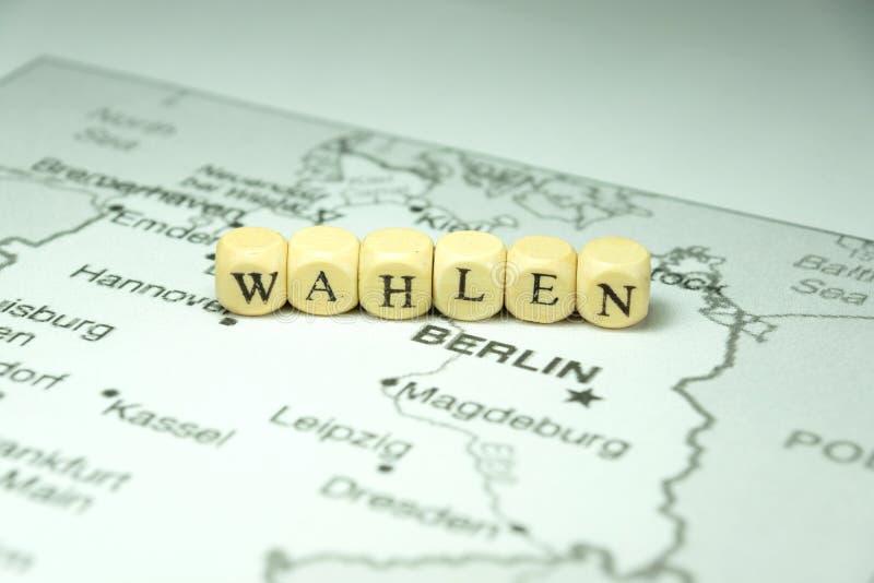 Översikt och val i Tyskland royaltyfria bilder