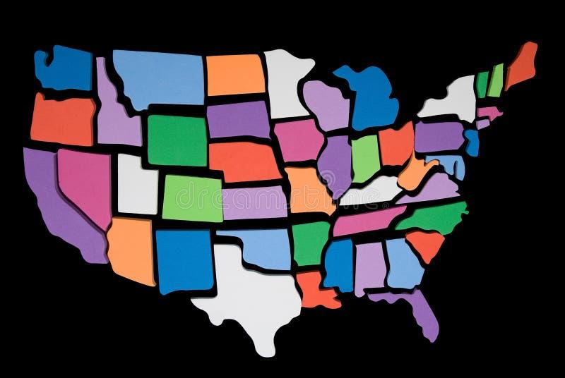 översikt pussel texturerade USA arkivfoto