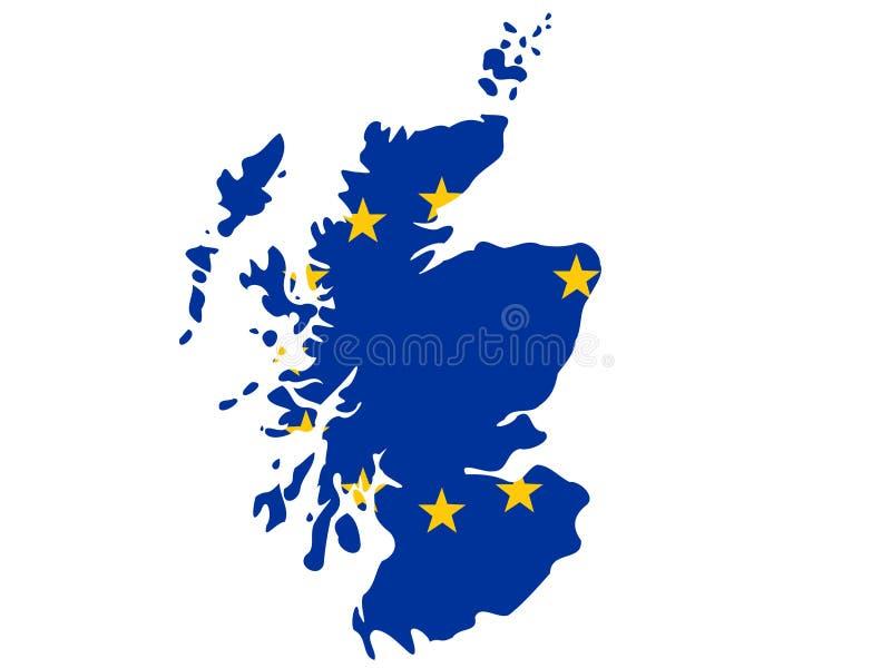 översikt scotland royaltyfri illustrationer