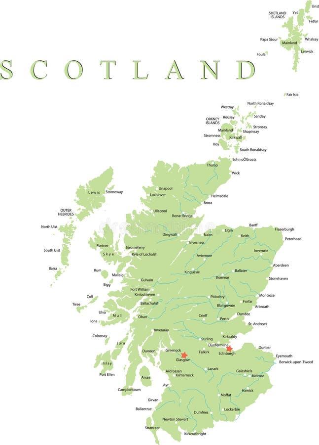 översikt scotland vektor illustrationer