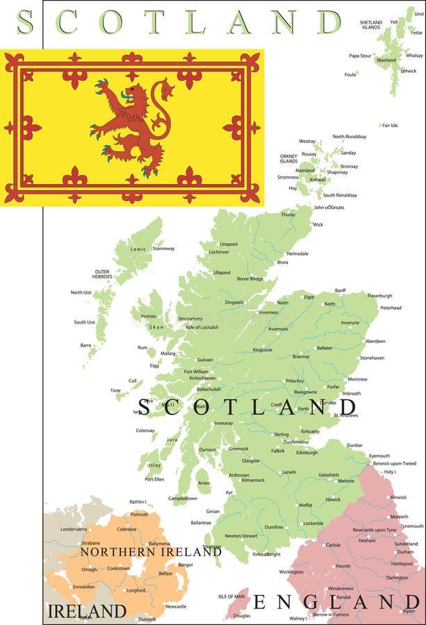 översikt scotland stock illustrationer