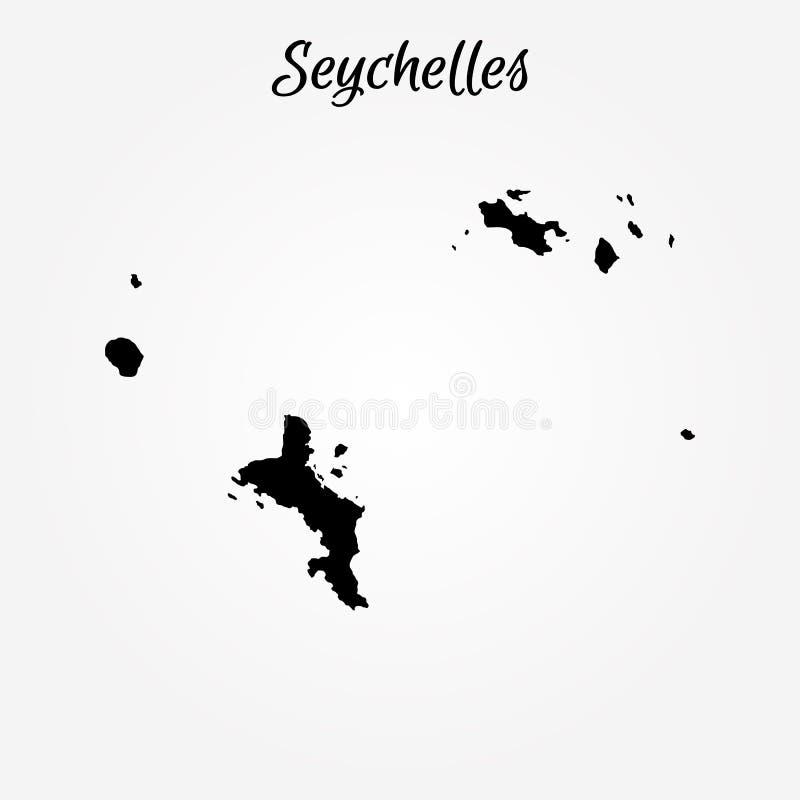 översikt seychelles också vektor för coreldrawillustration gammal värld för illustrationöversikt royaltyfri illustrationer