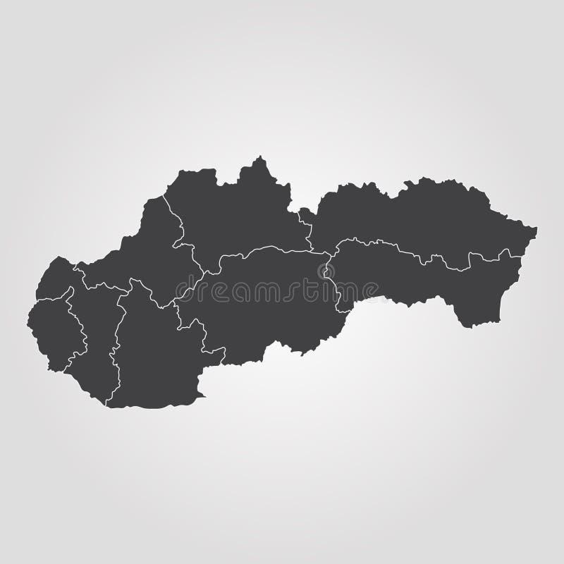 översikt slovakia royaltyfri illustrationer