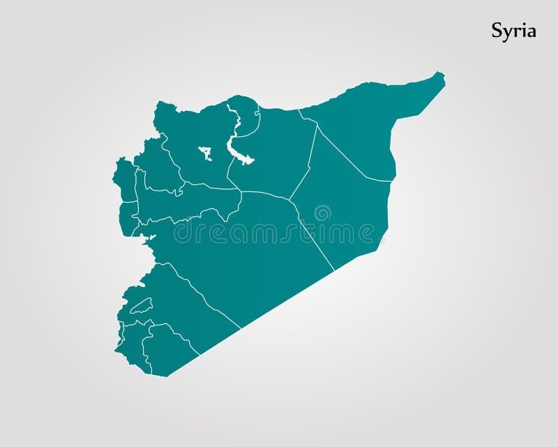 översikt syria royaltyfri illustrationer