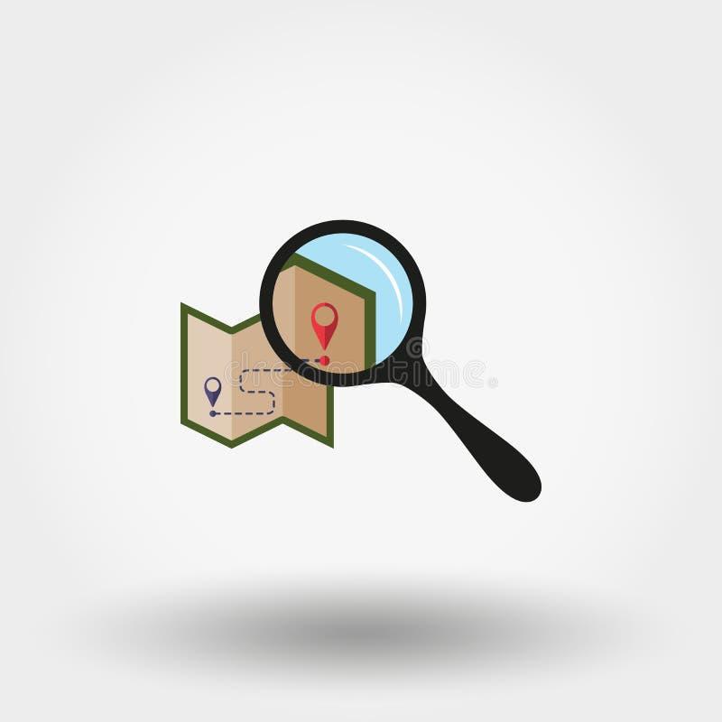 Översikt under förstoringsglaset symbol vektor plant vektor illustrationer