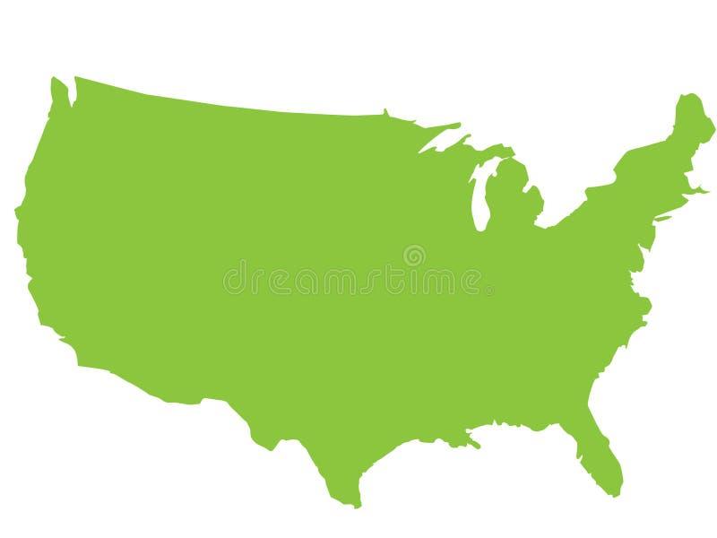 översikt USA vektor illustrationer