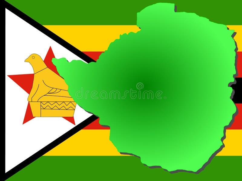 översikt zimbabwe stock illustrationer