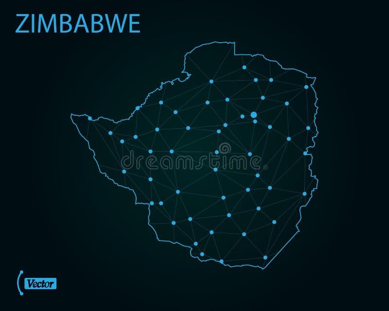 översikt zimbabwe också vektor för coreldrawillustration gammal värld för illustrationöversikt royaltyfri illustrationer