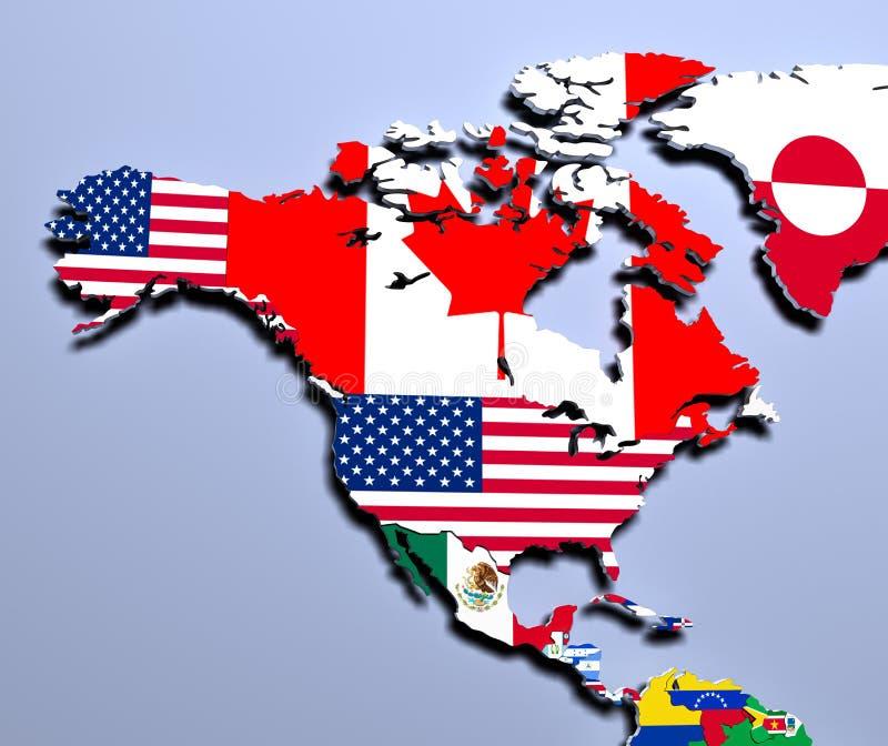 Download Översikten Av Det Amerika Slutet Upp 3d Framför Stock Illustrationer - Illustration av askfat, geografi: 78731980