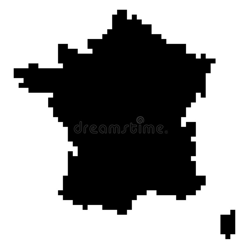 Översikten av Frankrike stock illustrationer