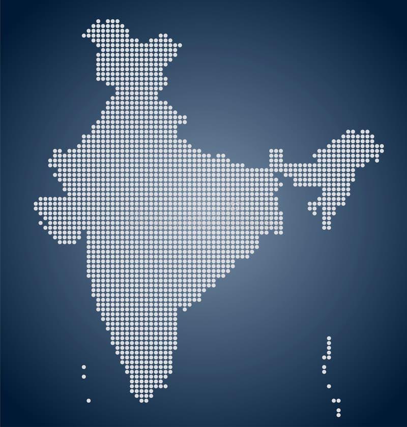 Översikten av Indien, PIXEL stock illustrationer