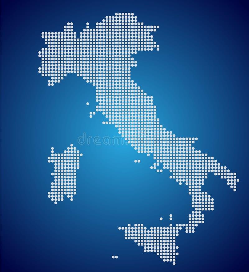 Översikten av Italien, PIXEL vektor illustrationer
