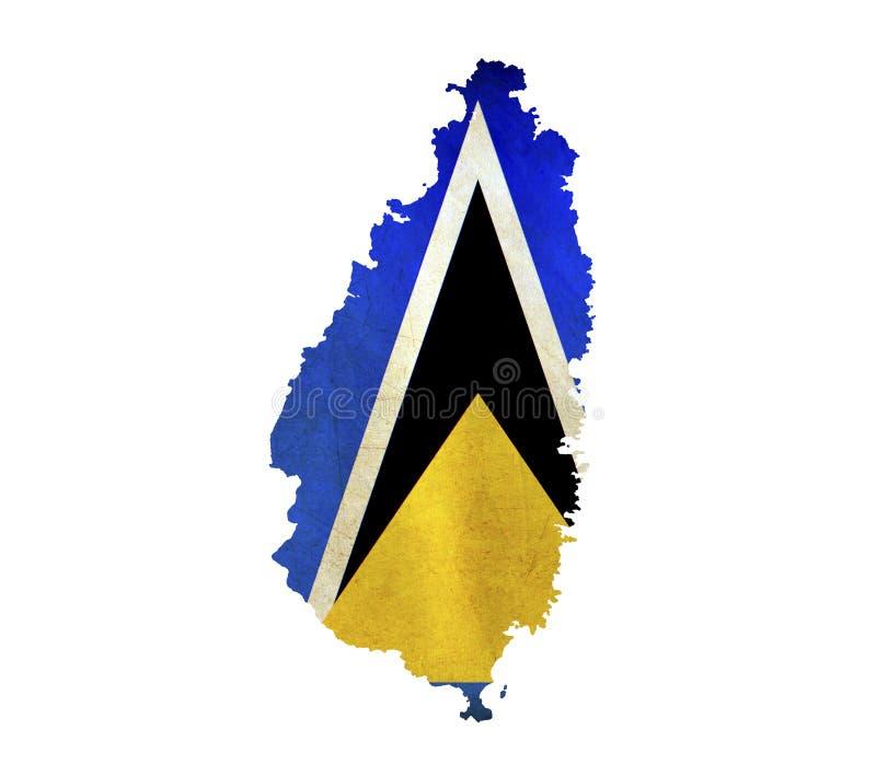 Översikten av St Lucia isolerade fotografering för bildbyråer