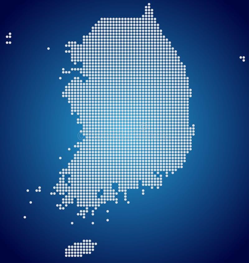 Översikten av Sydkorea, PIXEL stock illustrationer