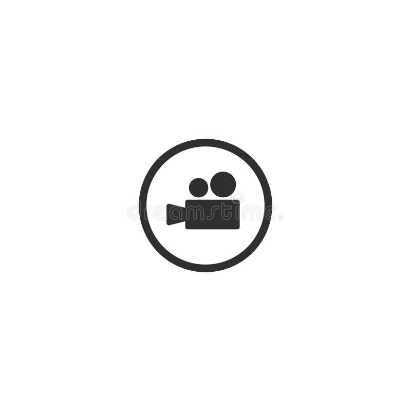 Översikten för symbolen för kameran för filmfilmen isolerade 1 royaltyfri illustrationer
