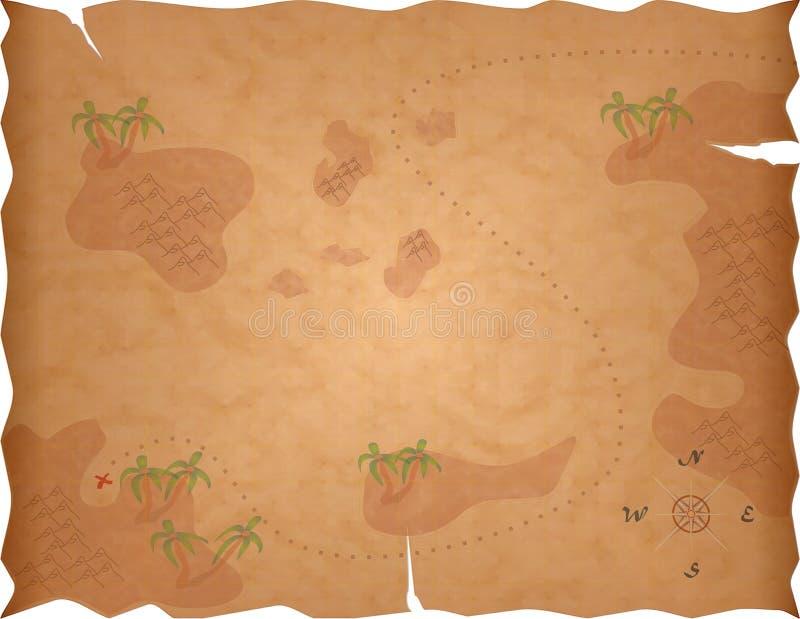 översikten piratkopierar skatten stock illustrationer
