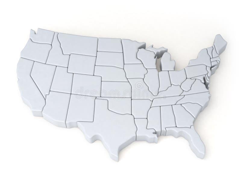 Översikter av Förenta staterna stock illustrationer