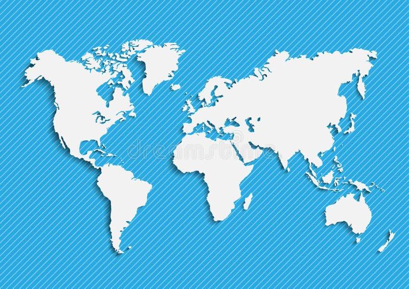 Översikter av jord`en s världskarta kontinenter, vektorillustration vektor illustrationer