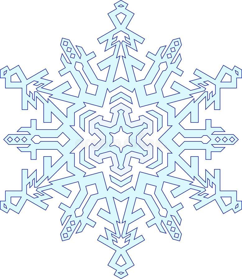 Översikter av snöflingan i den mono linjen stil Geometrisk patte för vektor stock illustrationer