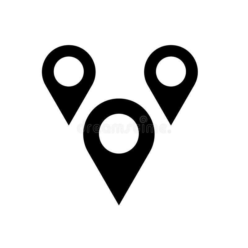 Översikter markerar symbolsvektortecknet, och symbolet som isoleras på vit bakgrund, översikter markerar logobegrepp vektor illustrationer