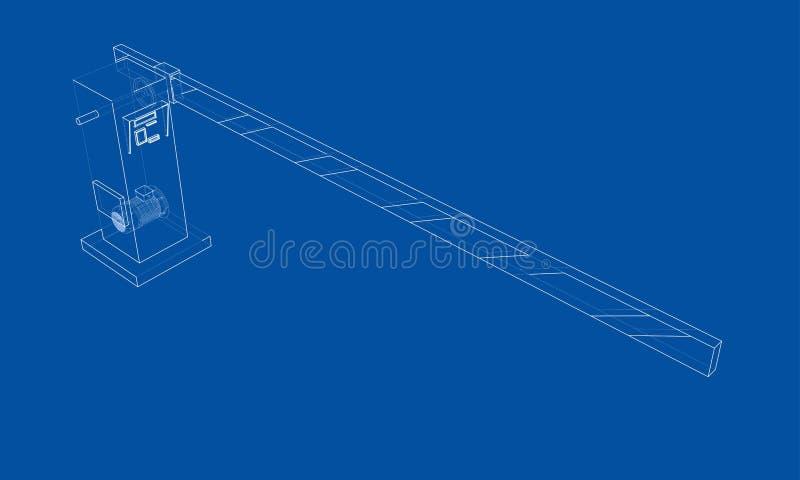 Översiktsbarriärport vektor royaltyfri illustrationer