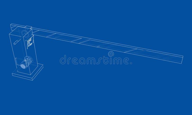 Översiktsbarriärport vektor stock illustrationer