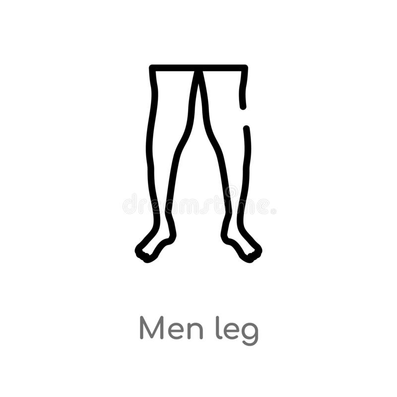 översiktsmän lägger benen på ryggen vektorsymbolen isolerad svart enkel linje beståndsdelillustration från begrepp för människokr royaltyfri illustrationer