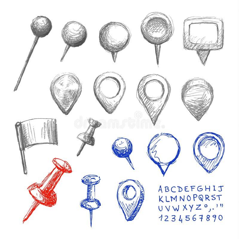 Översiktspekare vektor illustrationer