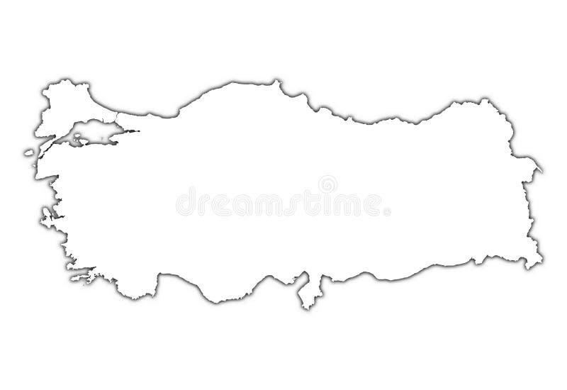 översiktsskuggakalkon stock illustrationer