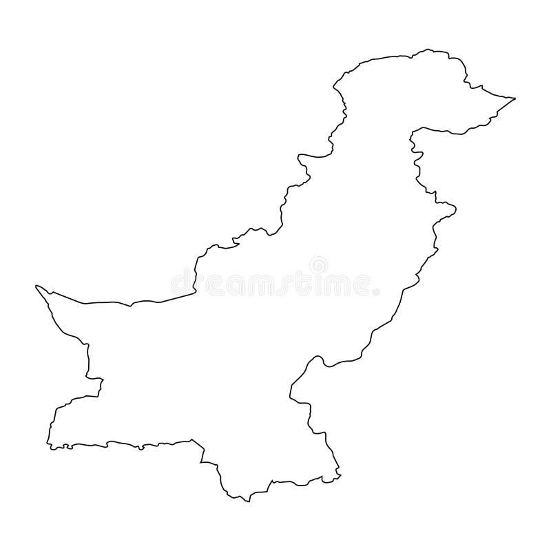Översiktssvartöversikt Pakistan stock illustrationer