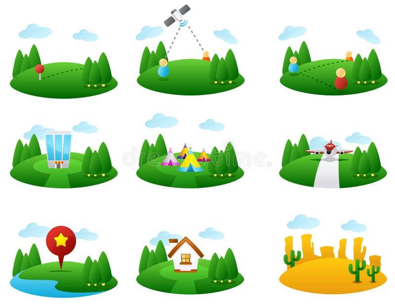 översiktssymbol stock illustrationer