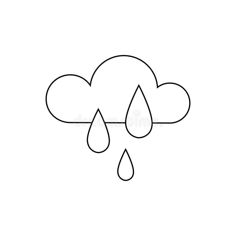 Översiktssymbol av molnet och väder enkel design royaltyfri illustrationer