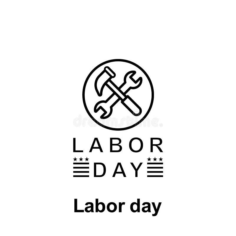 Översiktssymbol för arbets- dag Beståndsdel av illustrationsymbolen för arbets- dag Tecknet och symboler kan användas för rengöri vektor illustrationer