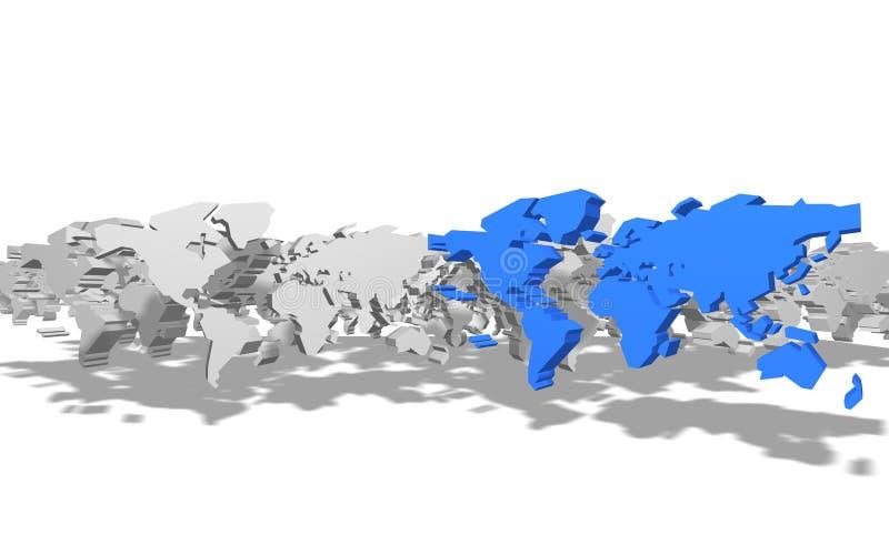 översiktssymbol för jord 3d royaltyfri illustrationer