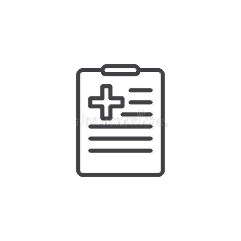 Översiktssymbol för medicinsk historia vektor illustrationer