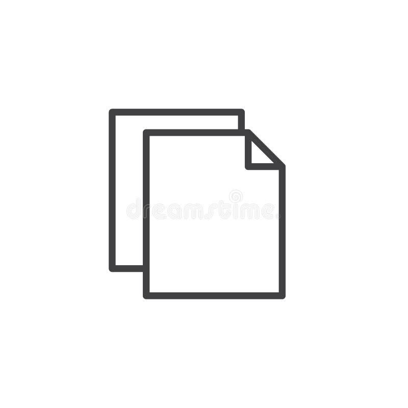 Översiktssymbol för pappers- mapp vektor illustrationer