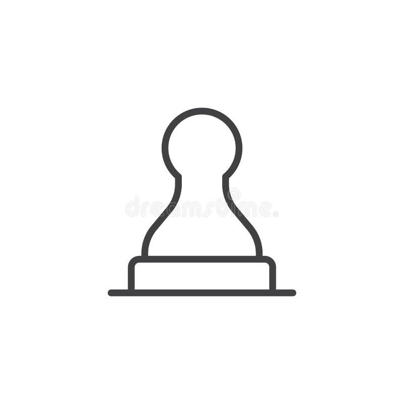 Översiktssymbol för Rubber stämpel royaltyfri illustrationer