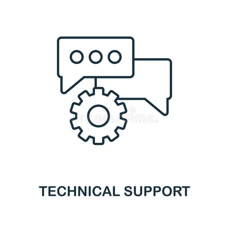 Översiktssymbol för teknisk service Enkel design från samling för rengöringsdukutvecklingssymbol UI och UX Ico för teknisk servic royaltyfri illustrationer