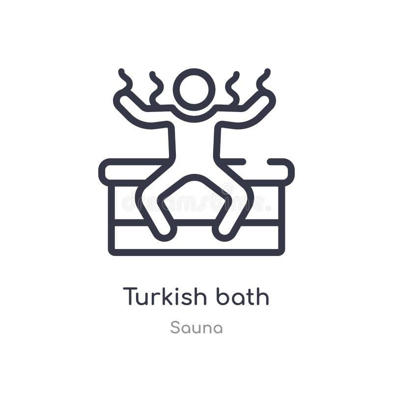 översiktssymbol för turkiskt bad isolerad linje vektorillustration fr?n bastusamling redigerbar tunn symbol för turkiskt bad för  vektor illustrationer