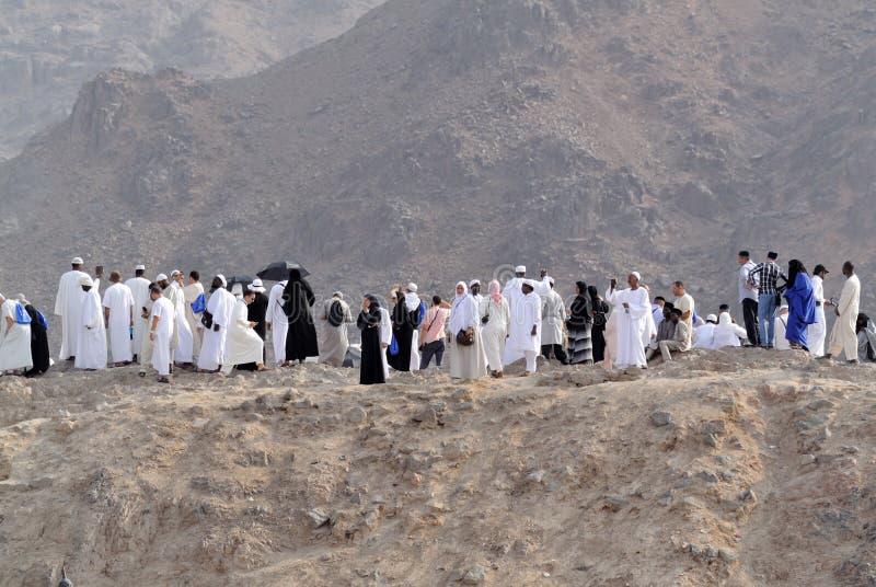 Överst av bågskyttkullen i den Medina ledaren arkivfoton