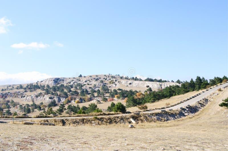 Överst av denPetri platån, Krim arkivfoto
