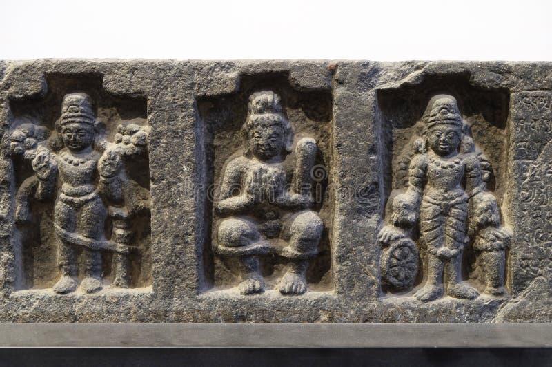 Överstycke: Surya, Siva Lakulisa och Vishnu, 26th regnalår av Dharmapala arkivbilder