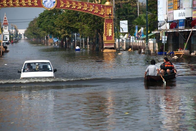 översvämmar thailand royaltyfri fotografi