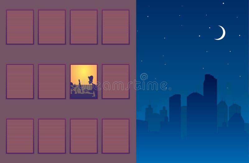 övertids- working stock illustrationer