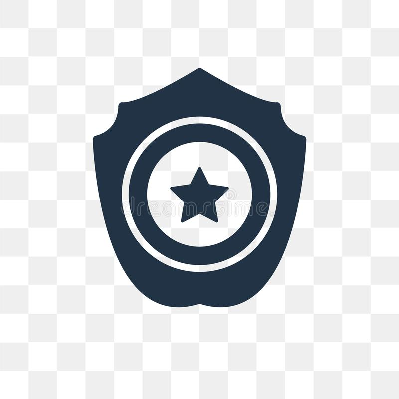 Övervaka emblemvektorsymbolen som isoleras på genomskinlig bakgrund, Pol royaltyfri illustrationer