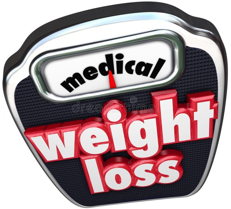 Övervakad medicinsk hjälp för hjälp för ord för skalan för viktförlust bantar royaltyfri illustrationer
