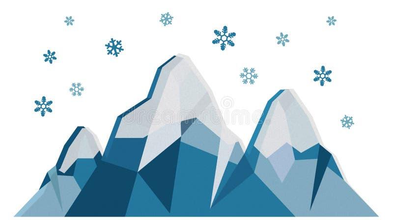 Övervintra berg stock illustrationer