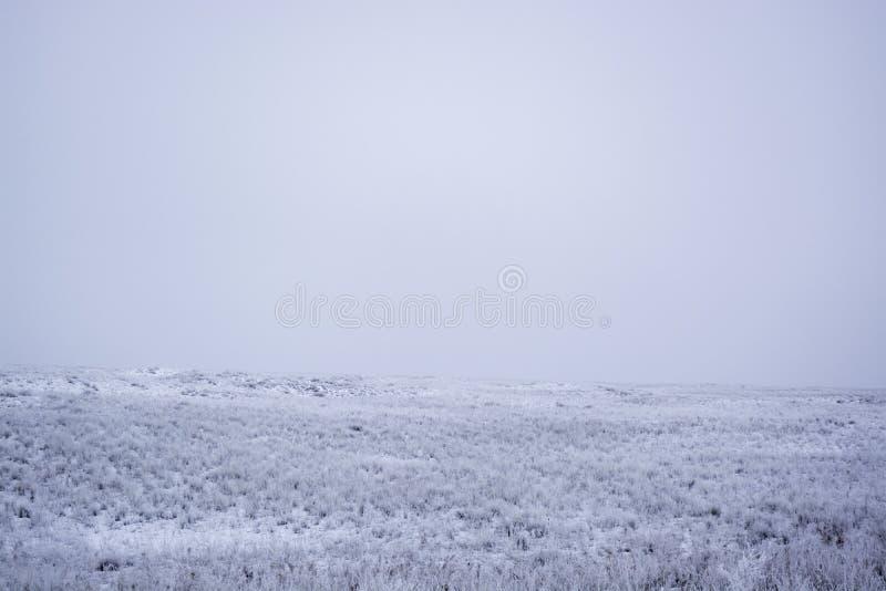 övervintra Vintersikt på Balkhash royaltyfri fotografi