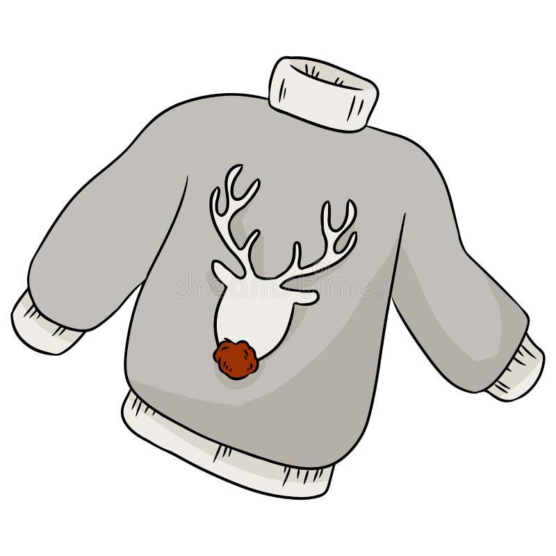 Övervintrar hemtrevlig hygge för julhjorthipsteren tröjan vektor illustrationer