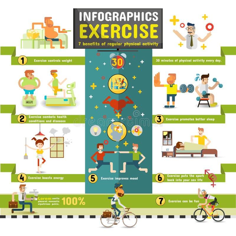 övning Infographics royaltyfri fotografi